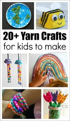 ou need to check out these easy yarn crafts for kids to make at home or school. So many creative ways to play and creating te with yarn. Easy Yarn Crafts, Yarn Crafts For Kids, Spring Crafts For Kids, Fun Crafts, Paper Crafts, Diy Crafts For Tweens, Weaving For Kids, Friend Crafts, Etsy Crafts