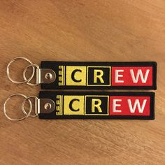 Porte-clé Keyring Remove Before Flight CREW gravé