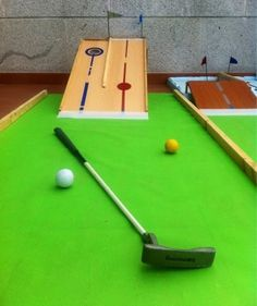 SO SUNNY SO SUNNY Mini Golf in a balcony. DIY. So easy!! Mini Mini Golf en una terraza. Súper fácil!!