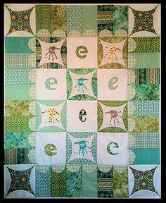 A handprint quilt for my granddaughter Ella.  An original design by Pink Hippo Quilts.