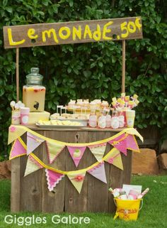 On a hot summer day nothing beats the heat like a cool, refreshing glass of lemonade. #party