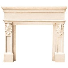 Historic Mantels Designer Series Paris 47 in. x 53 in. Cast Stone... ($1,290) ❤ liked on Polyvore featuring fireplace