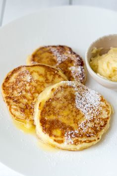 Milk and Honey: Ricotta Hotcakes with Whipped Honey Butter