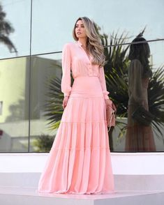 Fashion Dress For Women - Pink Dresses Modest Fashion, Hijab Fashion, Fashion Dresses, Skirt Outfits, Dress Skirt, Dress Up, Modest Dresses, Casual Dresses, Summer Dresses