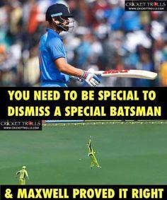 What a catch by Glenn Maxwell to send back Virat Kohli for duck! #INDvAUS #1stODI - http://ift.tt/1ZZ3e4d