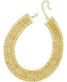 Thalia Sodi Gold-Tone Wide Collar Necklace, Only at Macy's - Gold