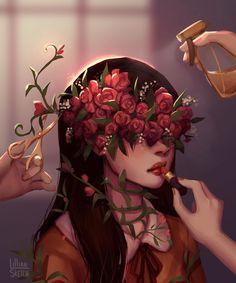 the rose lady well for me is Aesthetic Art, Aesthetic Anime, Drawn Art, Digital Art Girl, Zooey Deschanel, Fantasy Artwork, Anime Art Girl, Surreal Art, Portrait Art