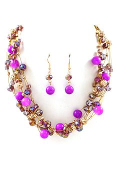 Kelly Agate Necklace Set