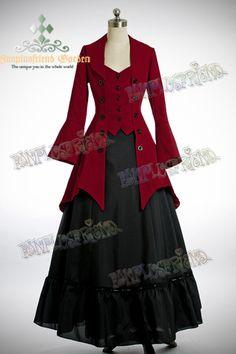 Pirate Lolita Elegant Gothic Long Tuxedo Tail Jacket - MUST BUY