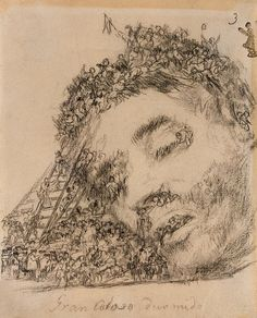 Great Colossus Asleep - Francisco Goya, Between 1824 and 1828