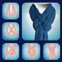 Linda forma de colgarse un bufanda!!❄