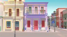 Google Color Maps on Behance Bg Design, Game Design, Cartoon Background, Art Background, Fantasy House, Unique Wallpaper, Pretty Images, Useful Life Hacks, City Art