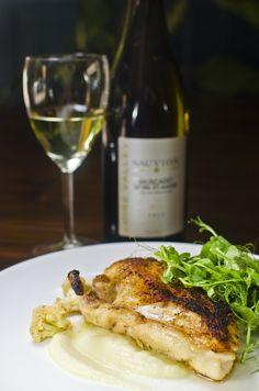 "Chicken ""Kiev"" with cauliflower at The Seven Dials gastropub, Coral Gables http://www.sevendialsmiami.com/"