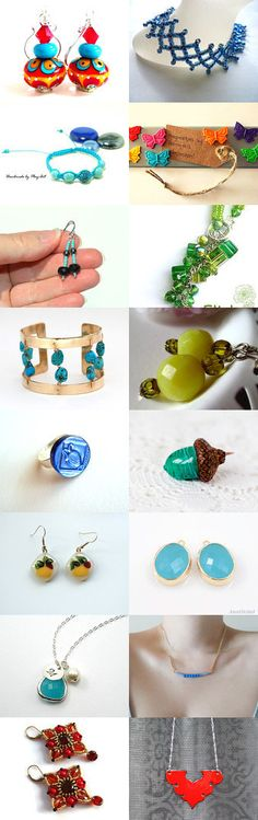 Colorful Handmade Jewelry by Susan A on Etsy--Pinned with TreasuryPin.com