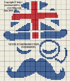 Grille gratuite point de croix : Gentleman anglais - Le blog de Isabelle