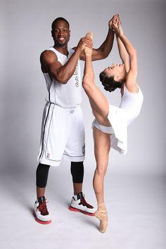 Patricia Delgado of the Miami City Ballet and Dwyane Wade of the Miami Heat