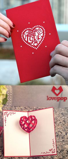 Kiss those impersonal drugstore cards goodbye. Each LovePop pop-up card is laser-cut and handmade to be an intricate expression of affection from you to the people you care most about.  http://lovepopcards.com/collections/valentines-day-cards-feb-14-2015/?orderby=popularity&utm_source=Pinterest&utm_medium=1.20P