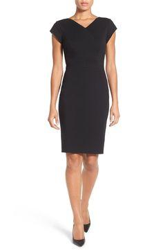 Classiques Entier® V-Neck Ponte Sheath Dress (Regular