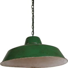 Deckenlampe im Industriestil antik grün