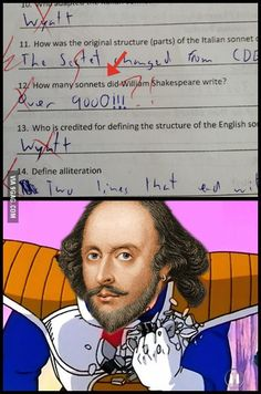 Shakespeare level over 9000!! - 9GAG