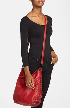 Swooning over this studded hobo!