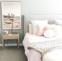 Our blush button cushion in the home of Courtney McCann