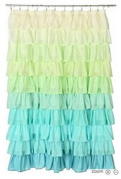 How to make a ruffle shower curtain