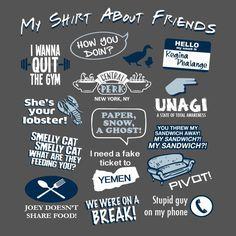 Amigos amantes de Ventilador de programa de televisión Divertido Camisa sobre amigos Novedad Tee T-shirt gráfico