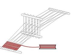 A really great diagram and tutorial for creating a popsicle stick weaving loom.