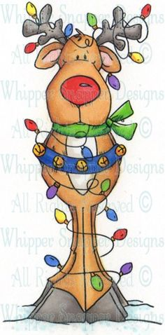 Wrapped Up Reindeer - Christmas Images - Christmas - Rubber Stamps
