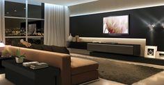 Luxo e Sofisticação em um Home Theater Sob Medida      Traga conforto e sofisticação com um toque de luxo para dentro de sua sala de estar...