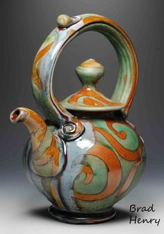 This site is intended to inform Brad Henry Pottery past and future customers of who I am, where I will be and items available for immediate purchase. Pottery Teapots, Teapots And Cups, Ceramic Teapots, Ceramic Clay, Ceramic Pottery, Teapots Unique, Modern Teapots, Vintage Teapots, Tea Pot Set