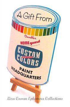 custom color paint needle pack. liza cowan ephemera collections  via Flickr