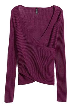 Ribbed wrapover top | H&M