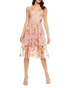 Dress the Population Ally Lace Dress - Dusty Pink You are in the right place about alternative Weddi V Neck Wedding Dress, Wedding Dresses, Wedding Outfits, Wedding Attire, V Neck Cocktail Dress, Summer Cocktail Dress Wedding, Cocktail Dresses, Dress The Population, Tea Length Dresses