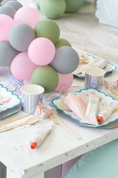Take a look at this gorgeous under the sea birthday party! The table settings are wonderful! See more party ideas and share yours at CatchMyParty.com  #catchmyparty #partyideas #donutparty #donuts #undertheseaparty #mermaids #mermaidparty #girlbirthdayparty #tablesettings Girl Birthday, Birthday Parties, Sea Cakes, Mermaid Cakes, Donut Party, Mermaid Parties, Under The Sea Party, For Your Party, Table Linens