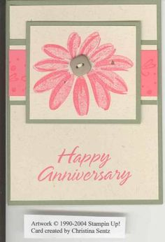 Daisy Anniversary Card by Naskarr94 - Cards and Paper Crafts at Splitcoaststampers