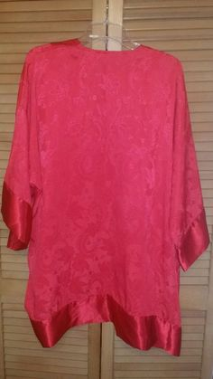 Check Out Our Other Items For Sale!!! Victorias Secret Sexy Satin Red Robe Kimono Spa Wrap one size vintage Intimates #VictoriasSecret #Robe