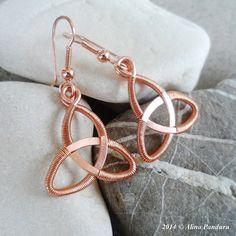 CELTIC KNOT EARRINGS  Handmade Jewelry  Celtic by AlinasStudio