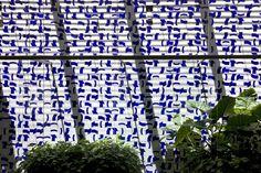 Painel de azulejos, Salão Verde (Jardim Interno), Câmara dos Deputados, 1971. Arquiteto Oscar Niemeyer
