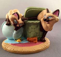 Disney Store Lil Classics Lady & the Tramp Si & Am Siamese Cat PVC Figurine  | eBay