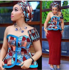 Beautiful Ankara Aso Ebi collection To Wow This Season. The African fashion style is unique and anyo. Latest Ankara Styles, Latest African Fashion Dresses, African Print Dresses, African Print Fashion, Africa Fashion, Ankara Fashion, African Prints, African Attire, African Wear