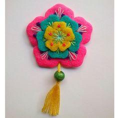 #flower #flanel #felt #brooch