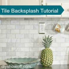 how to tile a backsplash (or wall)