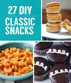 27 Classic Snacks You'll Never Have To Buy Again °Pinning here as there are sweets included.