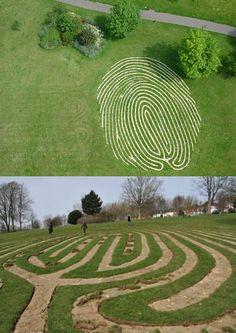 Chris Drury_________Fingerprint, maze, Hove Park, UK