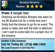 Checking out Brooklyn Brewery has been on my BK Bucket List for a while now and I finally...