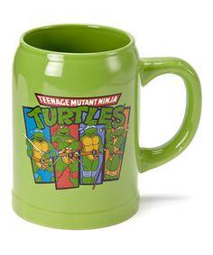 TMNT Characters 22-Oz. Ceramic Stein by Teenage Mutant Ninja Turtles #zulily #zulilyfinds
