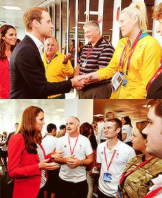 William and Kate thanking Olympic Volunteers
