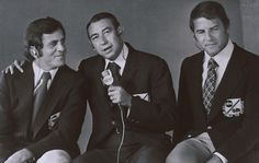 Don Meredith (from left), Howard Cosell and Frank Gifford